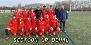 Equipe qualifiée pour le 2ème tour du Championnat d'Excellence des lycées